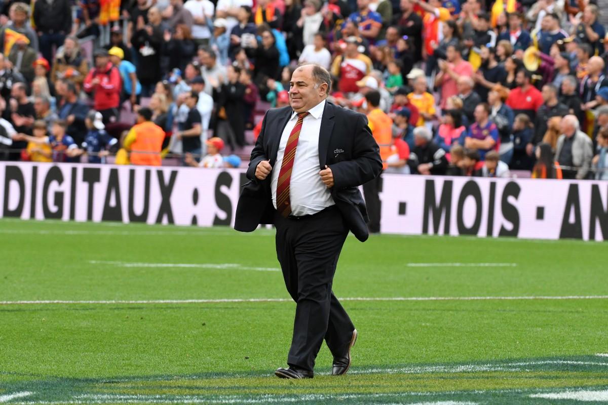Catalans owner Bernard Guasch at Nou Camp