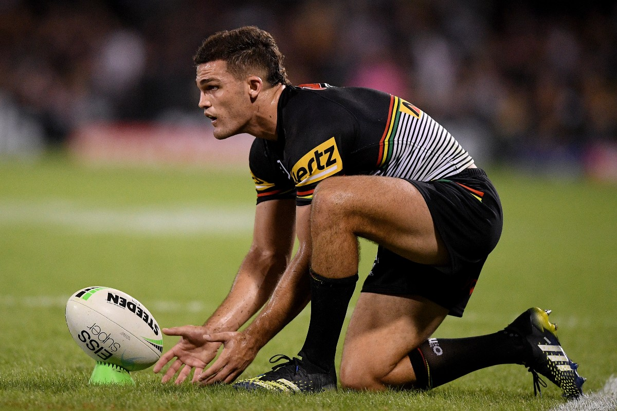 Nathan Cleary in action for Penrith