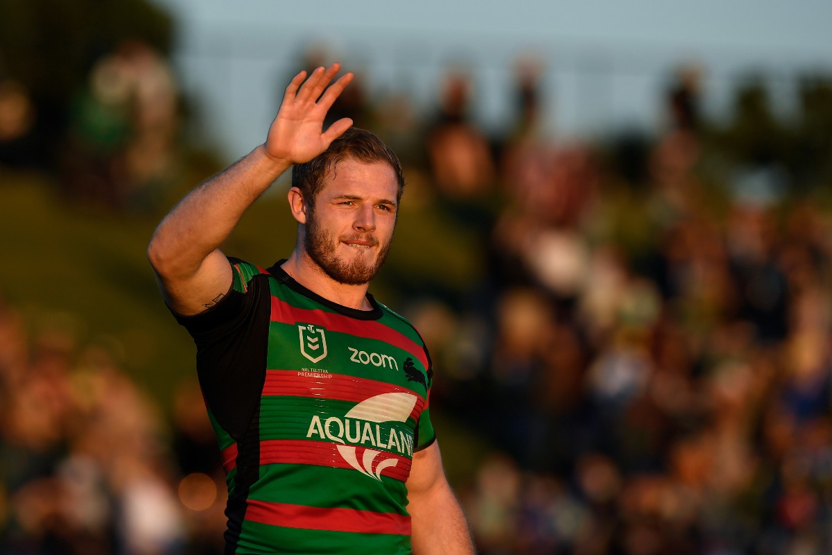 Tom Burgess in action for South Sydney Rabbitohs
