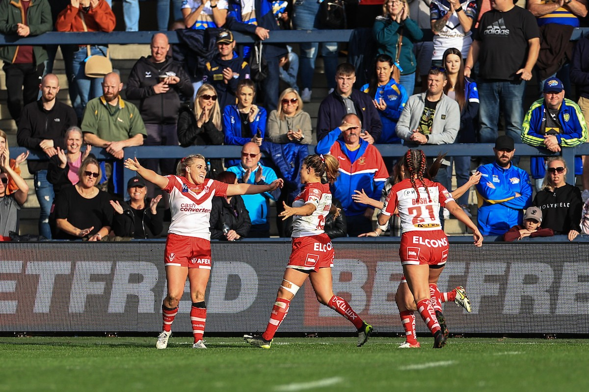 Amy Hardcastle in action for St Helens