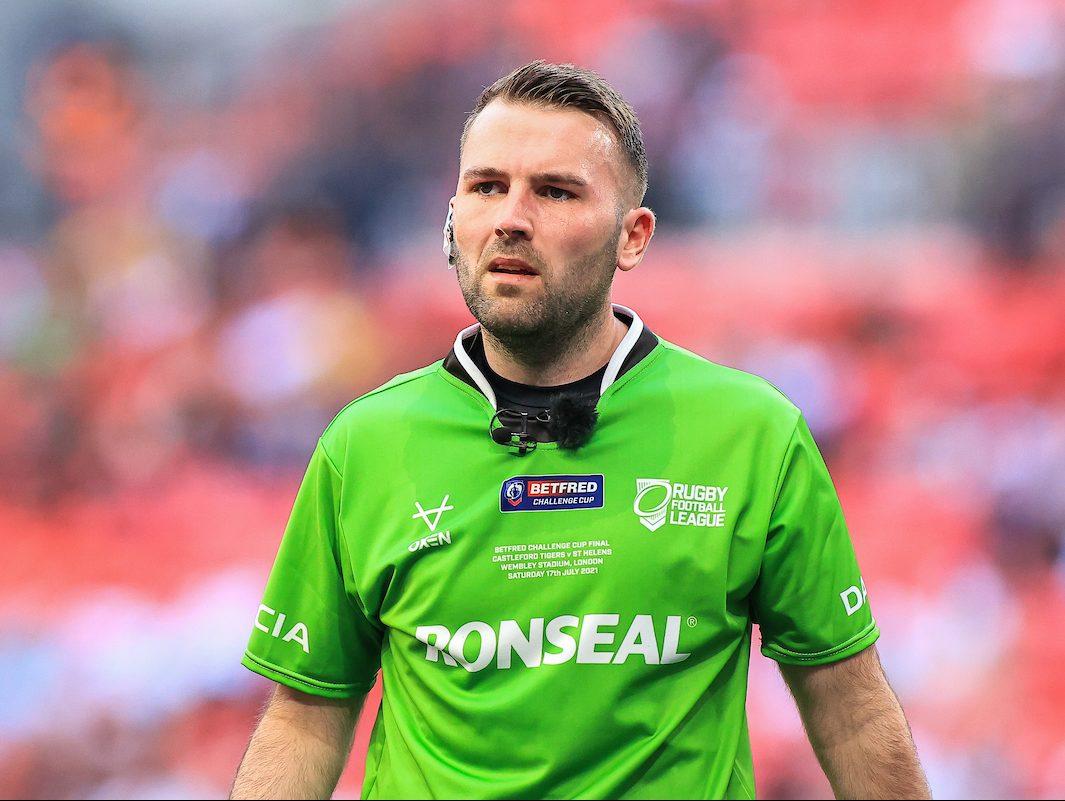 Referee Liam Moore
